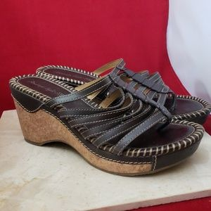 American Eagle Brown Wedge Sandals Size 10